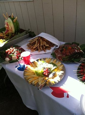 Some of the hundreds of options available for catering by The Ring of Fire Restaurant