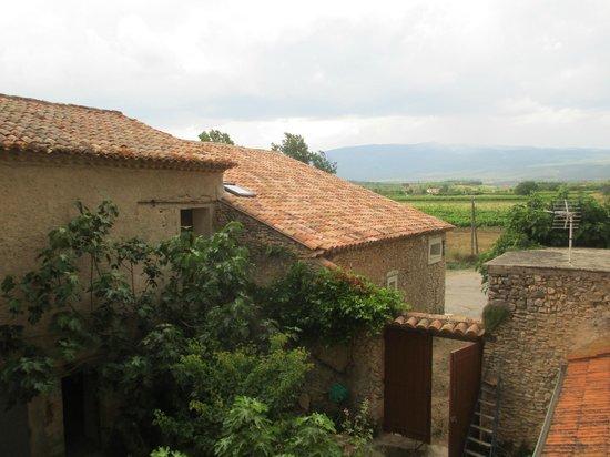 Chambres d'Hotes Le Leyrac: Le Mont Ventoux depuis l'arrière de la chambre