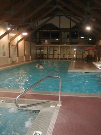 Deer Park Resort: We all loved the indoor pool - nice and warm, lockers nearby