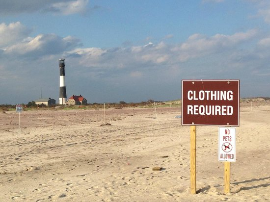 Fire Island Lighthouse: Make sure you are dressed when you show up