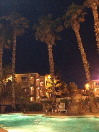 Budget Suites of America Tropicana I-15: Pool Area At Night