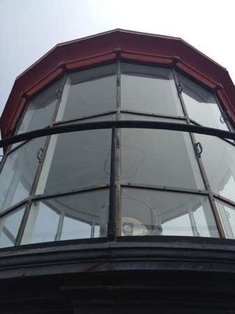 Point Sur State Historic Park : standing on the ledge outside of the top of the lighthouse.