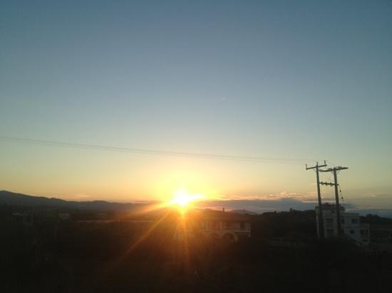 Arkadia Hotel: sunset from room terrace