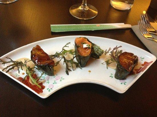 Chez Oki : salmon & foie-gras