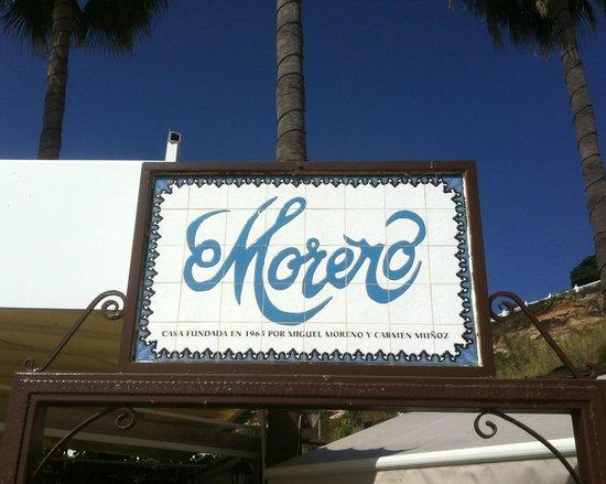 Chiringuito Moreno: Moreno - signage