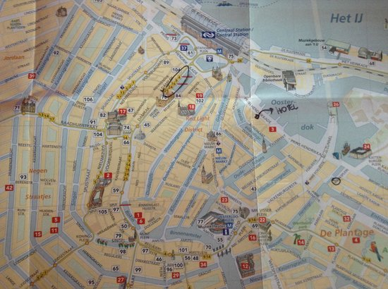 City Hotel Amsterdam: mappa amsterdam city hotel