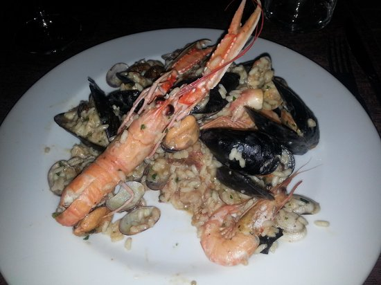 Ristorante I Gemelli: risotto with seafood