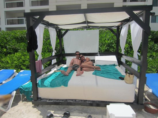 Day Beds On Beach Picture Of Secrets Silversands Riviera