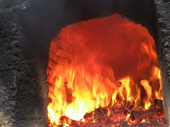 The Country Cooking School: Our historic brick built wood oven.