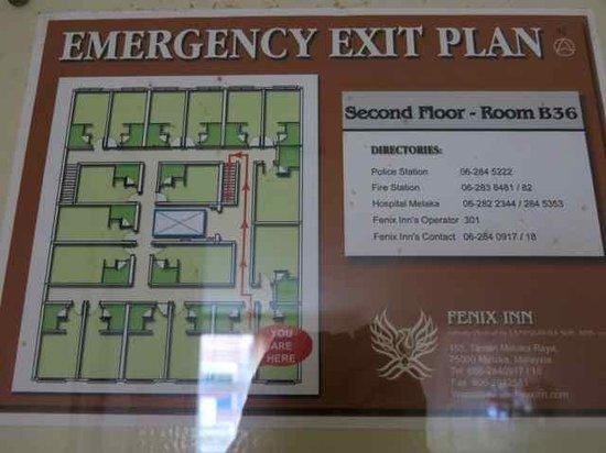Fenix Inn: Floor Plan for main building