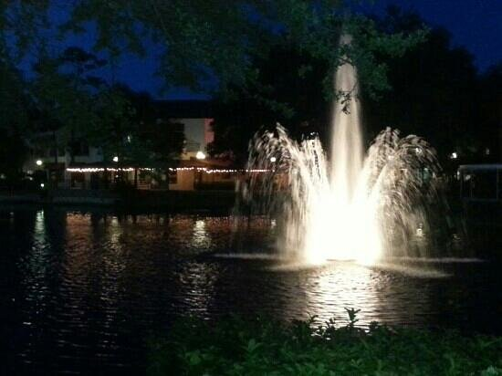 Hilton Boca Raton Suites : area in the back of hotel.  nice to walk around the lake.