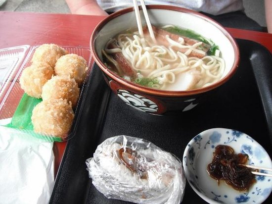 Onna Station Nakayukui Market : 色んなお店で買った物