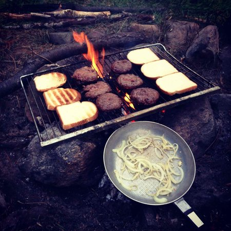 Red Deer Log Cabins and Campground: BBQ
