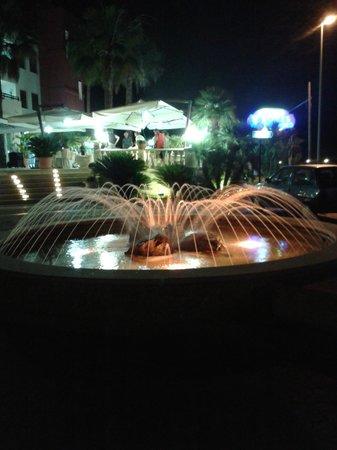 Hotel Mediterraneo : la fontana all'ingresso dell'hotel