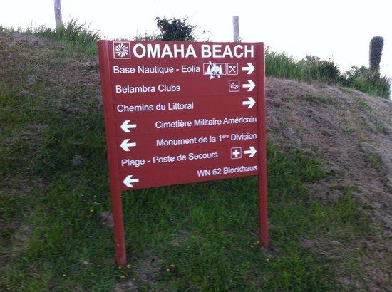 Belambra Clubs - Omaha Beach : Indiquation à quelques métre du club