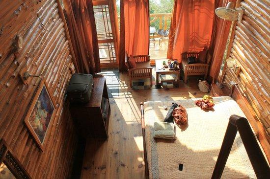 Banjara Camps - Thanedar: Inside of the Log Hut from the Attic