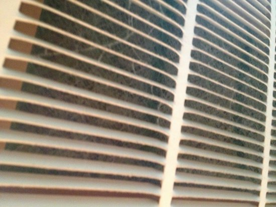 Days Inn & Suites Grand Rapids/Grandville : The air conditioner filter in room 203 I don't think it has been changed in years you should be