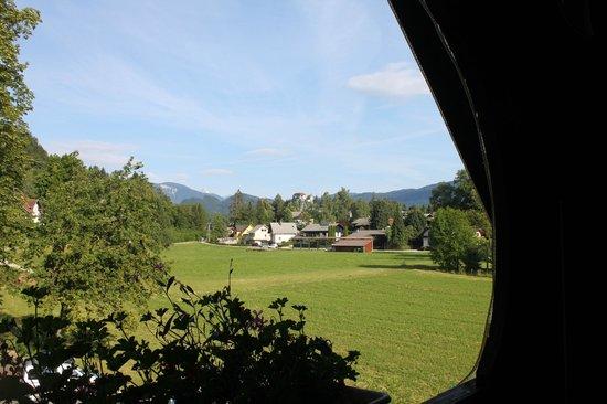 Alp Penzion: Vista dalla camera su Castello di Bled