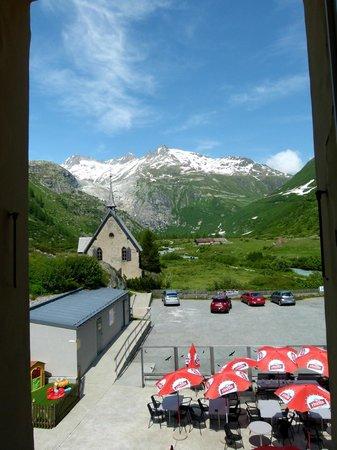 Hotel Glacier du Rhone: Blick aus Zimmer 221