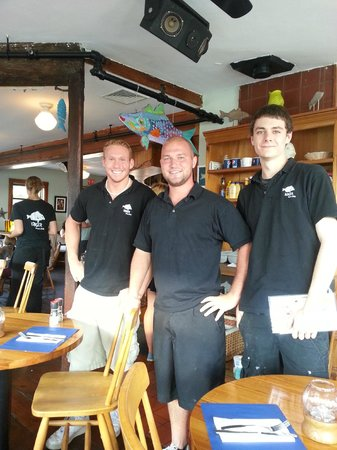 Some of the waiters at Fishmonger's Cafe.  Jarrod's in the middle.