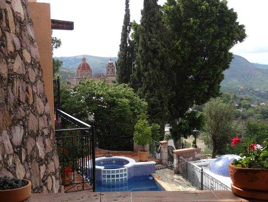 Casa Estrella de la Valenciana: Vista desde el desayunador exterior