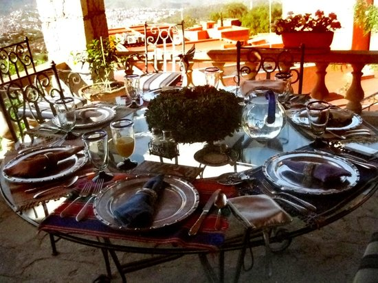 Casa Estrella de la Valenciana: Comedor exterior