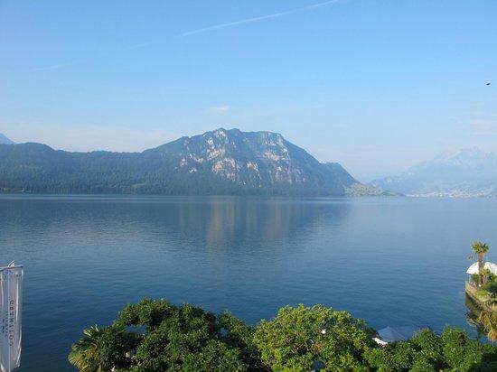 SeeHotel Gotthard: Lake view