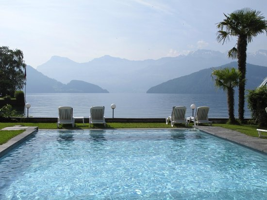 SeeHotel Gotthard: Pool view
