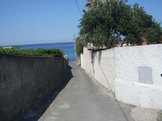 Residence Le Vigne : дорога к отелю