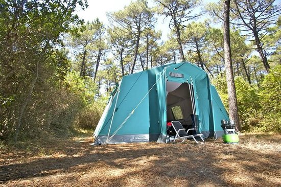 PuntAla Camp & Resort: For low budget campers, our House Tent for three adults + 3 children