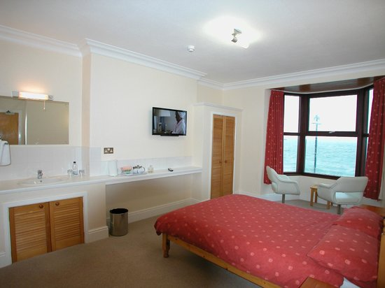 Yr Hafod Guest House: Standard Double Room with sea view