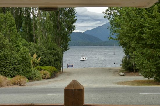 Te Anau Lakeview Holiday Park: View from out the back of the campervan.