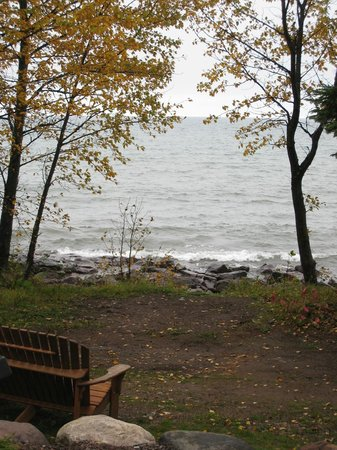 Larsmont Cottages on Lake Superior: View of Lake Superior from cottage