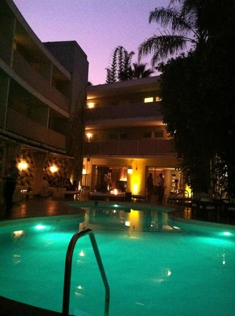 Avalon Hotel Beverly Hills: Cocktails poolside.