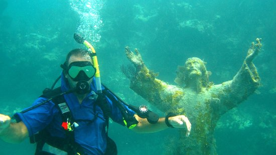 Captain Slate's SCUBA Adventures: Me at Christ of the Deep off Key Largo