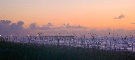 Kure Beach Pier: pier at sunrise