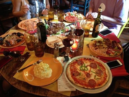 Trattoria Bondi : our feast!