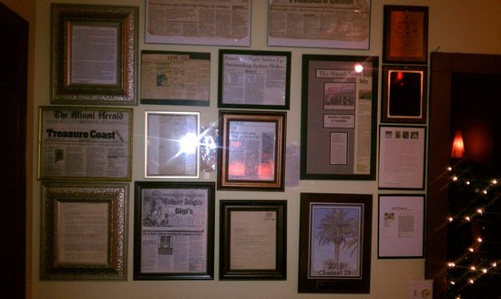 Gigi's Italian Restaurant: awards and food critic reviews when walking in our restaurant. 40 yrs in biz