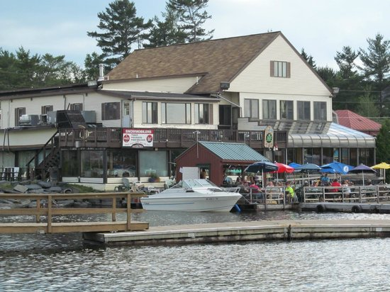 The Black Frog: View of the restaurant from the boardwalk