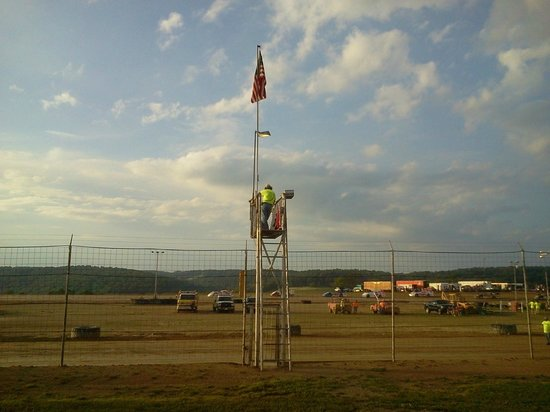 Marion Center Dirt Track Flag Guy