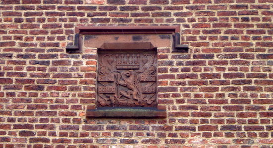 Ordsall Hall: Refurbishment date stone