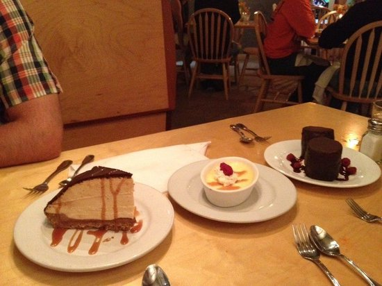 Blackfish Cafe : So many delicious desserts to choose from, we couldn't order just one!