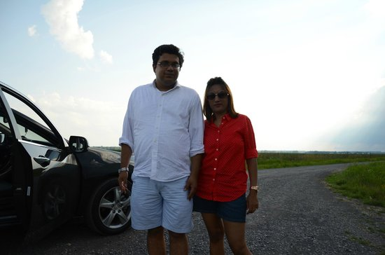 Montezuma National Wildlife Refuge: Me, my wife and our car in the wilderness - photo by my 5 yr old