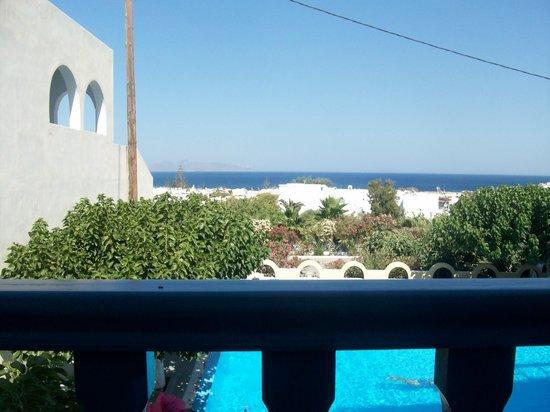 Artemis Hotel: Vista dalla balconata della sala destinata alla colazione