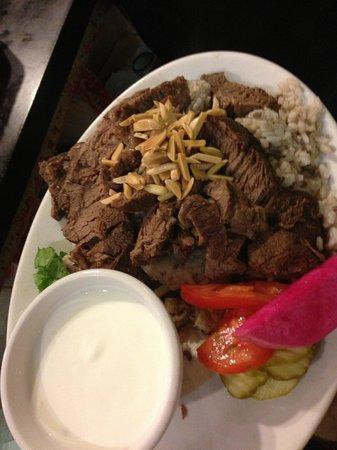 Beirut Restaurant: Deliciouss stuffed lamb dinner.