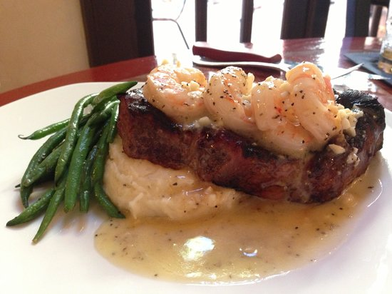 The Century Bar & Grill: New York Strip & Shrimp