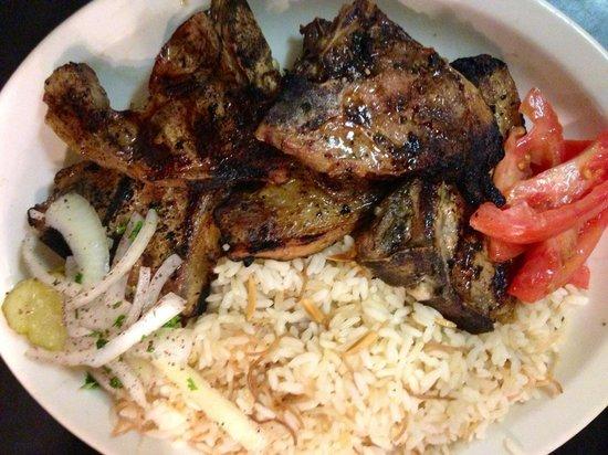 Beirut Restaurant: Lamb chopss