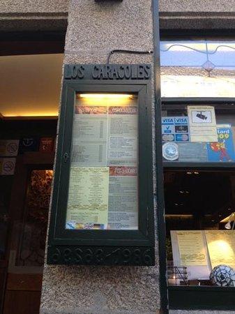 los Caracoles : Buena comida. Increíble servicio