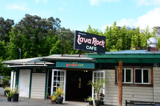 Volcano's Lava Rock Cafe: our view