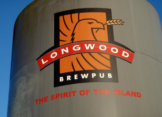 Longwood Brew Pub : outdoor signage